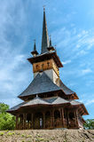 Wood church from Maramures. Beauftifull wood ortodox church from Maramures, Romania Royalty Free Stock Photography