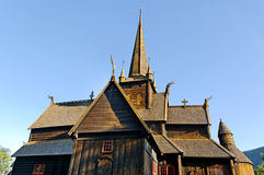 Wood church in Norway. Royalty Free Stock Images