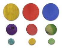 Wood Circle Set Stock Images