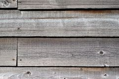 Wood cladding. Close up of weathered wooden cladding on a barn Stock Photo