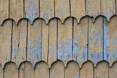 Wood clapboard roof texture pattern background Stock Photo