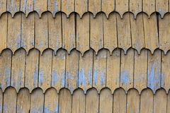 Wood clapboard roof texture pattern background Stock Photos