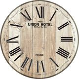 Wood clock union hotel clock wood clock. Wood clock pairs union hotel clock antique clock stock illustration