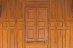 Wood Close window and wood wall  thai style house Stock Photography
