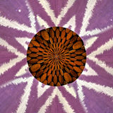 Wood and Cloth Star shaped pattern Royalty Free Stock Image