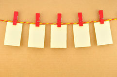 Wood clothes pin red color stock photo