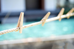 Wood Clothespin Stock Photography