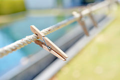 Wood Clothespin Royalty Free Stock Images