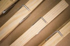 wood clothespin Royalty Free Stock Image