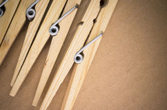 wood clothespin Stock Photo