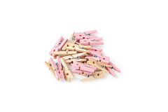Wood clothespins Royalty Free Stock Photos