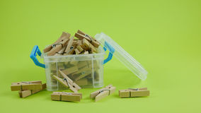 Wood clothespins (2) Stock Photography