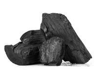 Wood coal Stock Photography