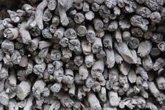 Wood coal.charcoal stock photo