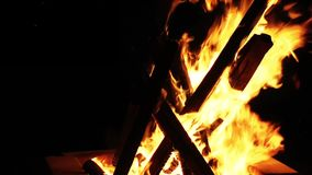 Wood and Coal Fire Burn stock footage