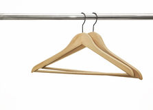 Wood Coat Hangers Royalty Free Stock Image