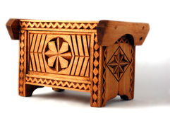 Wood Coffer Royalty Free Stock Images