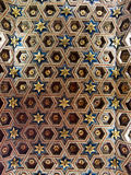 Wood coffered ceiling. At Paranifo of University of Alcala (Spain royalty free stock photos