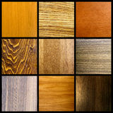 Wood collage. A collage of nine wood texture backgrounds stock photography