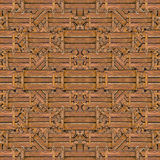 Wood Collage Pattern. Digital photo collage technique wood collage geometric seamless pattern background design in brown colors Stock Photography