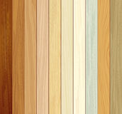 Wood collections colored ten realistic texture design Royalty Free Stock Image