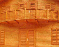 Wood color. Interesting color of a cabin made with wood Royalty Free Stock Photo