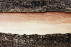 Wood with color gradation on old wooden. Wood with color gradation in an old wooden frame cracked Royalty Free Stock Image