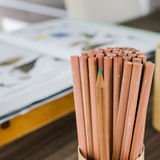Wood color pencil Stock Photography