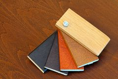 Wood color picker Stock Photography