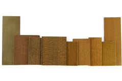 Wood color and texture sample Royalty Free Stock Photography
