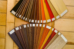 Wood color and texture samples Royalty Free Stock Photos