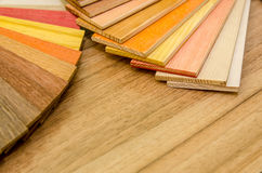 Wood color and texture samples Stock Photography
