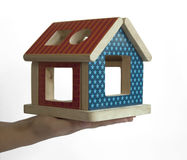 Wood colorful house toy Stock Photography
