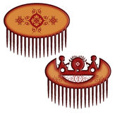 Wood comb Stock Photo