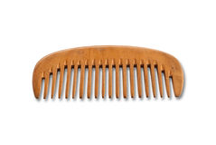 Wood comb isolate on the white. Stock Photos