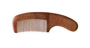 Wood comb isolated Stock Image