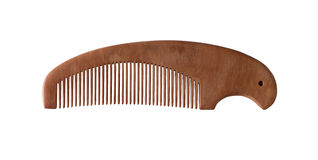 Wood comb isolated Stock Images
