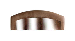 Wood comb isolated Royalty Free Stock Photos