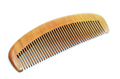 Wood comb isolated Royalty Free Stock Photography