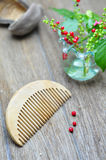 Wood comb Stock Photography