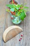 Wood comb Stock Photos