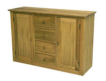 Wood commode. High quality, classic style design with front and upper board made in masive oak or beech wood Stock Photo