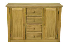 Wood commode. High quality, classic style design with front and upper board made in masive oak or beech wood Stock Images