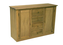 Wood commode. High quality, classic style design with front and upper board made in masive oak or beech wood Royalty Free Stock Photo