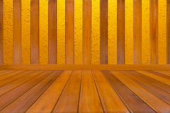 Wood and concrete Stock Image