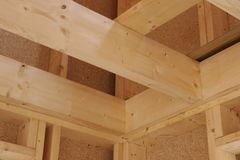 Wood construction Stock Images