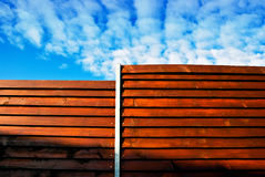Wood construction modern stock images