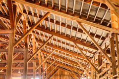 Wood construction roof Royalty Free Stock Photos