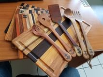 WOOD COOKING UTENSILS Royalty Free Stock Photo