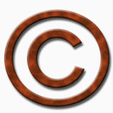 Wood copyright symbol Royalty Free Stock Photo